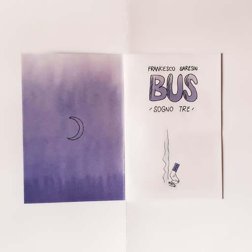 tre sogni fumetto fanzine bus