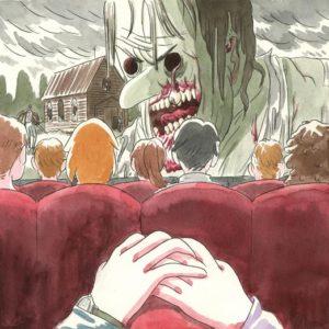 illustrazione cinema horror