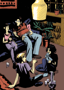illustrazione casa festa