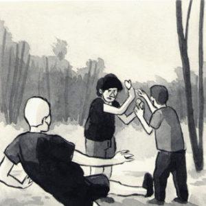 fumetto bambini bosco